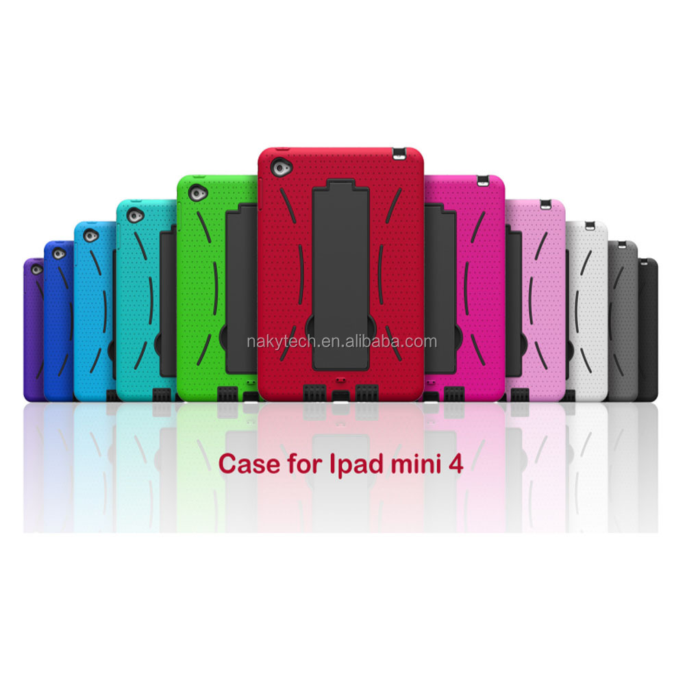Best selling phone case custom design case for ipad mini hybrid kickstand case