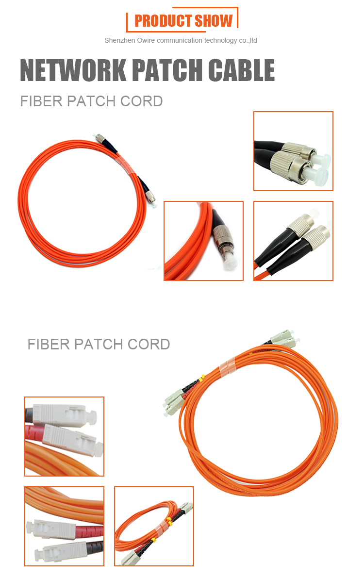 Multimode 50/125 3M 4 Core St Fiber Optic Patch Cable Shielded Angle