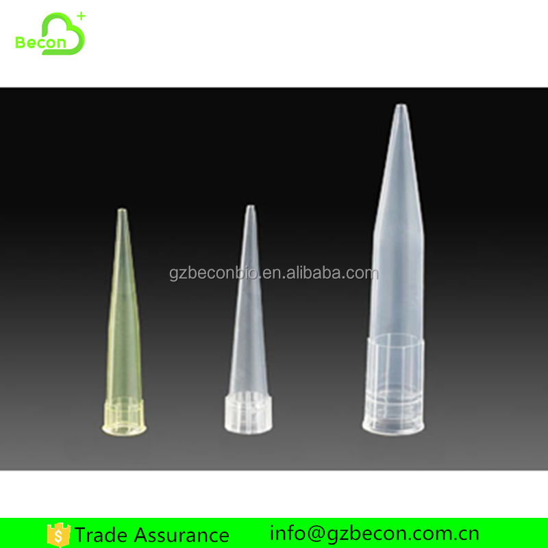 Wholesale Plastic Yellow Gilson Pipette Tips for All Type of Micro Pipette