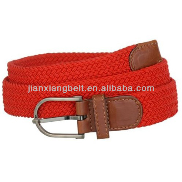 Fashion High Quality Low Price Colorful Fabric Red Patent Leather Skinny Belt