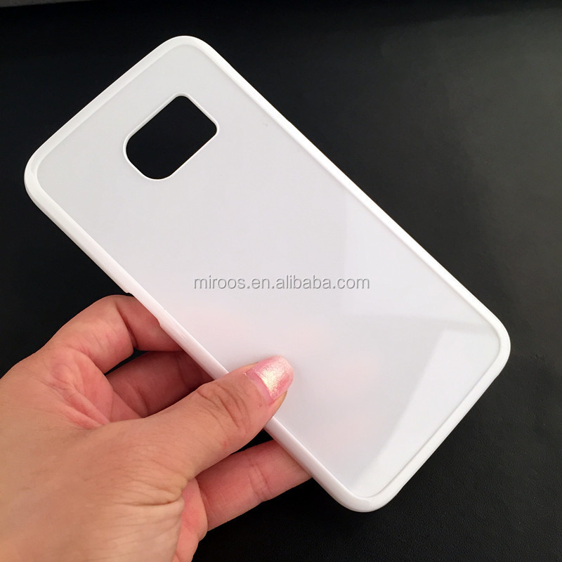 factory wholesale high quality hard pc clear inlay cell phone case for samsung galaxy s6 edge