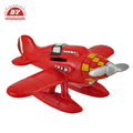 Saving money red propeller airplane money box