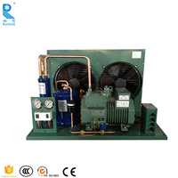 Cold Storage Blast Freezer Room Used Bitzer Compressor Condensing Unit Open Type 2hp 2.5 ton 3ton 3 phase