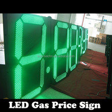 High quality energy saving LED gas price sign IP65 digital 7 segment Gas Station Pump Topper Price Sign Letters & Numbers