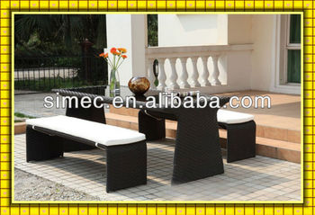 SGS tested HDPE rattan outdoor wicker furniture