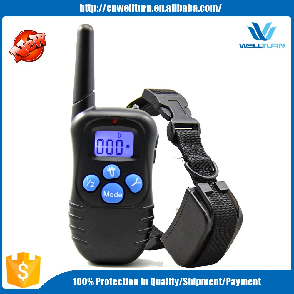 2016 Amazon Wellturn 300m Remote Electronic 2 Dog Shock E Collar Dog Training Bark Stop Collar 998DRB