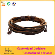 New products 2014 fashion jewelry wholesale spanish leather bracelets