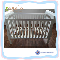 hot sale safety modern modern white solid pine wood baby crib