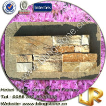 Cement Golden Slate Decorative Indoor Stone Wall Tiles