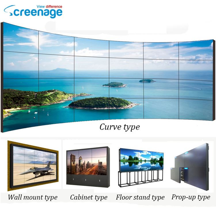 Shenzhen Manufacturer Indoor Video Wall Unit Designs Lcd Tv Wall Screen