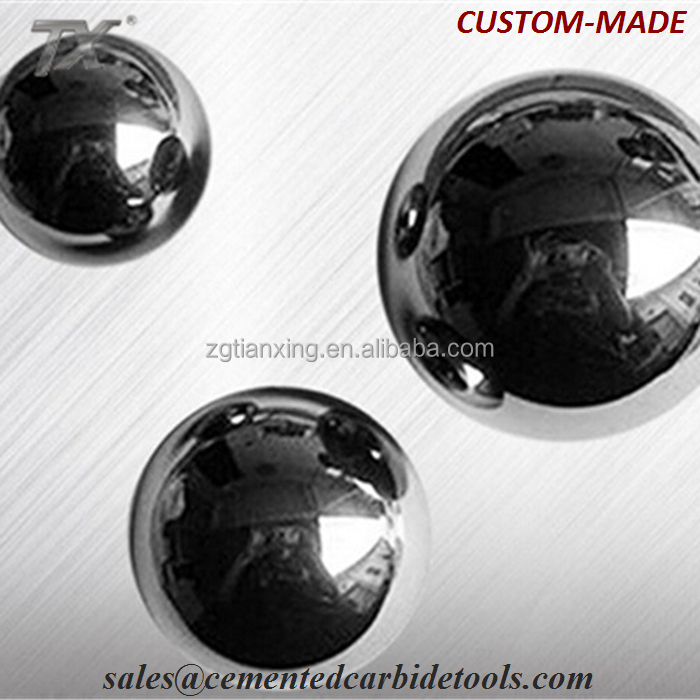 Various size blank precisely processed cemented tungsten carbide ball