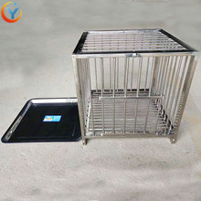 stainless steel Chicken Duck Quail Birds Pigeon show Cages For Live Poultry