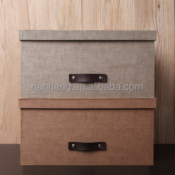 NAHAM hot selling cardboard decorative paper storage box with lid