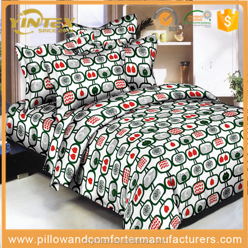 3D Printed 4-pieces Colorful Duvet Cover+Bed Sheet+2 Pillowcases Home Textiles Bedding Set