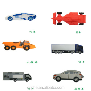 PVC customized different car shape usb flash drive