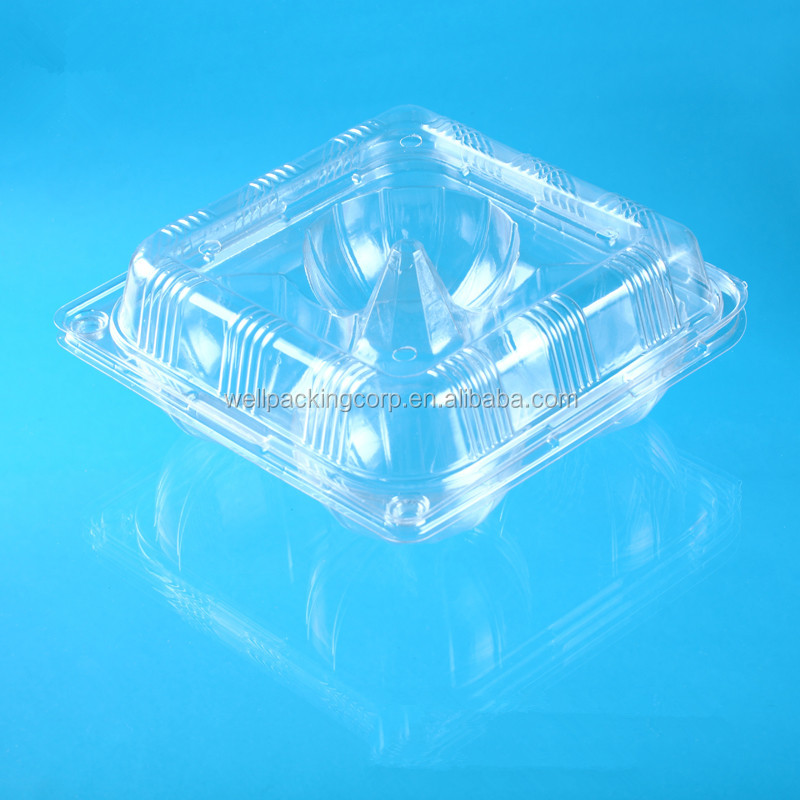 New Design Disposable Plastic Cupcake Packing Container with Compartment