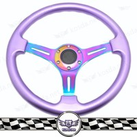 jdm car parts accessories flat bottom plastic steering wheel, purple steering wheel neo chrome
