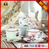 2016 New design 100CC Elegant Ceramic Rose Cup and Saucer