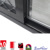 large aluminum sliding window black sliding window with mesh