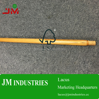 "48"" length amber lvl wood thread broom sticks"