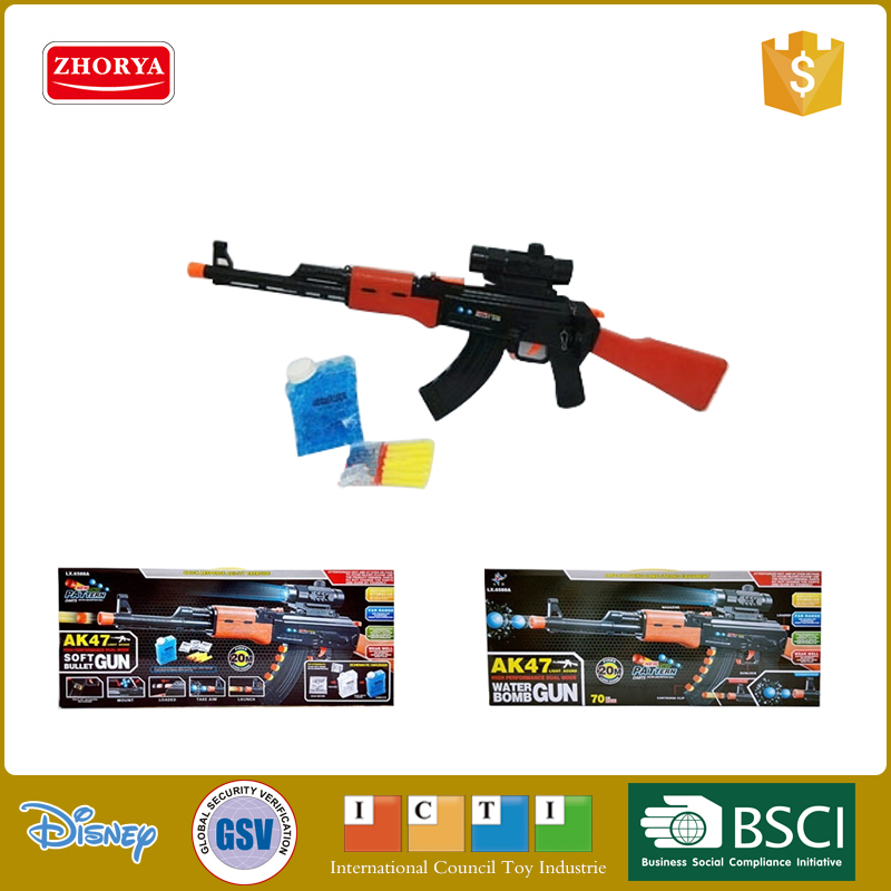 Zhorya AK47 hot selling plastic soft bullet toy gun kids funny soft bullet gun toy for sale