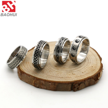 Wholesale Latest Design Smart Silver Thick Ring Stainless Steel Men's Party Ring