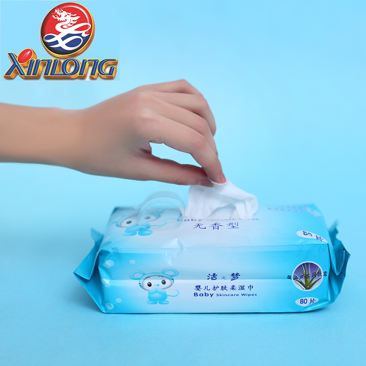 [XINLONG]wholesale spunlace non woven softextile dry bamboo baby wipes
