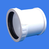 dn90 flexible upvc plastic pipe water drainage wasting coupling fitting with rubber ring