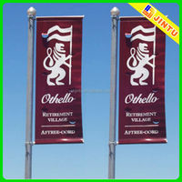 Advertisement Street Pole Banner, Outdoor Flag Street Banner Printing