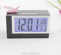 Fujian cheap plastic LCD desk electronic clock with back light