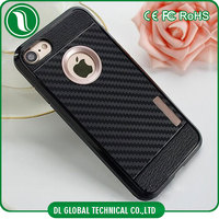 Mobile case and covers tpu and pc 2 in 1 carbon fiber cell phone housing for iphone 7