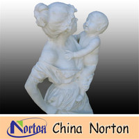 mother and children outdoor marble statues Stone Carvings and Sculptures nude marble statue NTMS502R