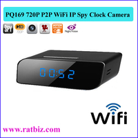 HD 1280*720P WiFi IP Camera Clock Radio Hidden Camera P2P Spy Clock support to Ios Android mobile phone/talbet PC/compute PQ169