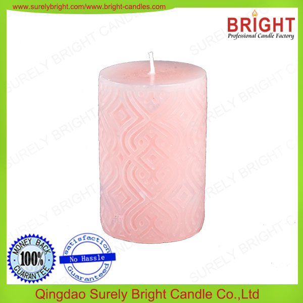 pillar candle, colored, no toxic, tearless, customize, environment, home decoration