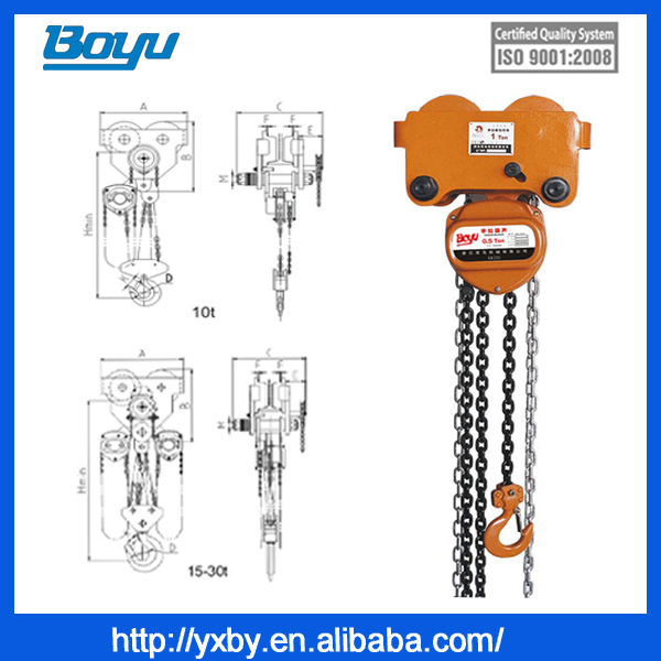 We supply combined chain hoist block rated load 24.5tons