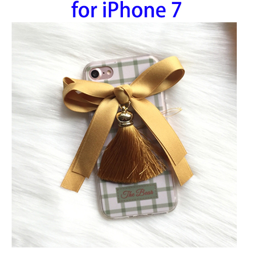 Amazing 3D Bowknot Cell Phone Accessory for iPhone 7 Case TPU