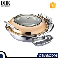 Round roll chafing dish/ oval buffet serving dish/ buffet chafing dish food warmer