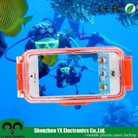 IPX8* 40m 130ft hard pc clear housing underwater diving waterproof phone case