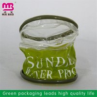 hot selling new design transparent pvc bags with zip lock for clothes