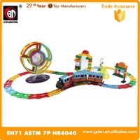 New magnetic toy with railway train Wholesales Magformers 168PCS block play set