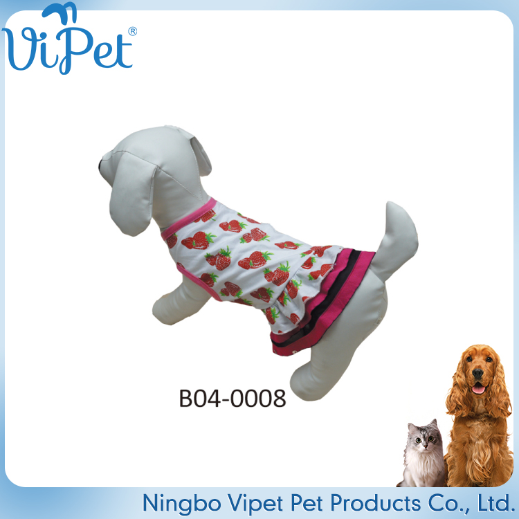 wholesale dog product soft comfort fabric pet dress dog retail