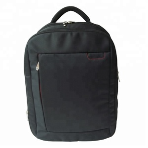 2019 simple design durable quality daily black 1680d polyester material high school laptop backpack bag