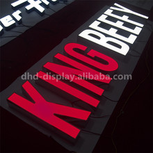 LED panel advertising board acrylic facade lighting radiant letter sign With Long-term Service