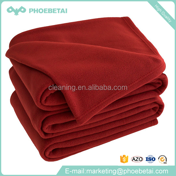 Home textile 100% polyester anti-pilling microfiber polar fleece blankets online