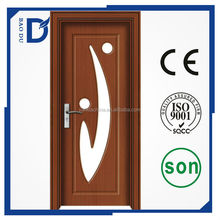2016 baodu hot sale high quality PVC wooden door with glass insert