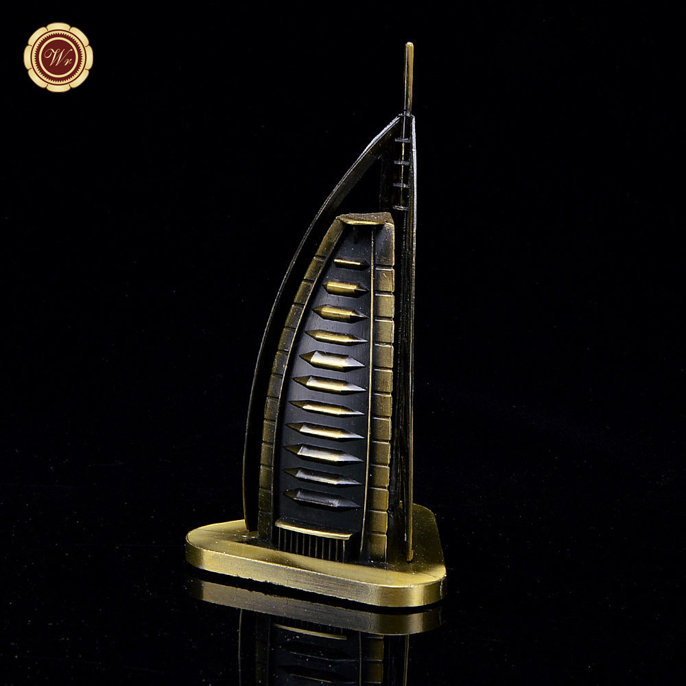Wr Collectible Building Toy <strong>Metal</strong> The World Famous Burj Al Arab Model Craft Home Office Decoration for Souvenir 8.5*8.5*16cm
