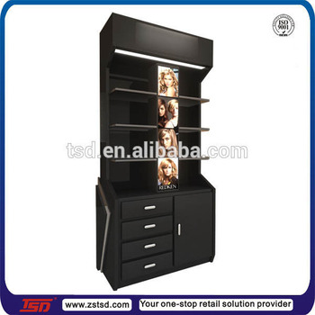 spray paint mdf display shelves for hair care products beauty supply. Black Bedroom Furniture Sets. Home Design Ideas