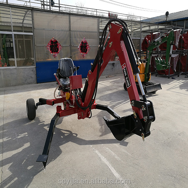 China manufacture ATV towable self power mini backhoe excavator
