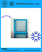190*190*80mm blue parallel Glass Block with ISO Certificate