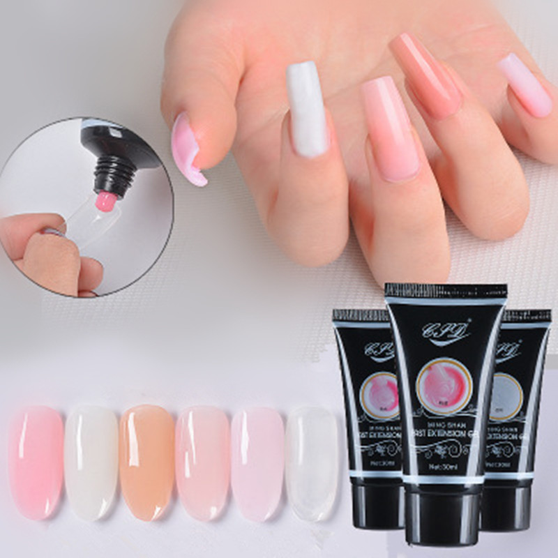 Drop Ship Newest Nail Art Transparent Clear Camouflage Color Fibre Glass Hard Jelly Quick Building Nail Extend Gum Poly <strong>Gel</strong>